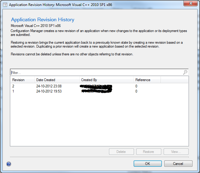 ConfigMgr 2012: Caveat with application revisions when used