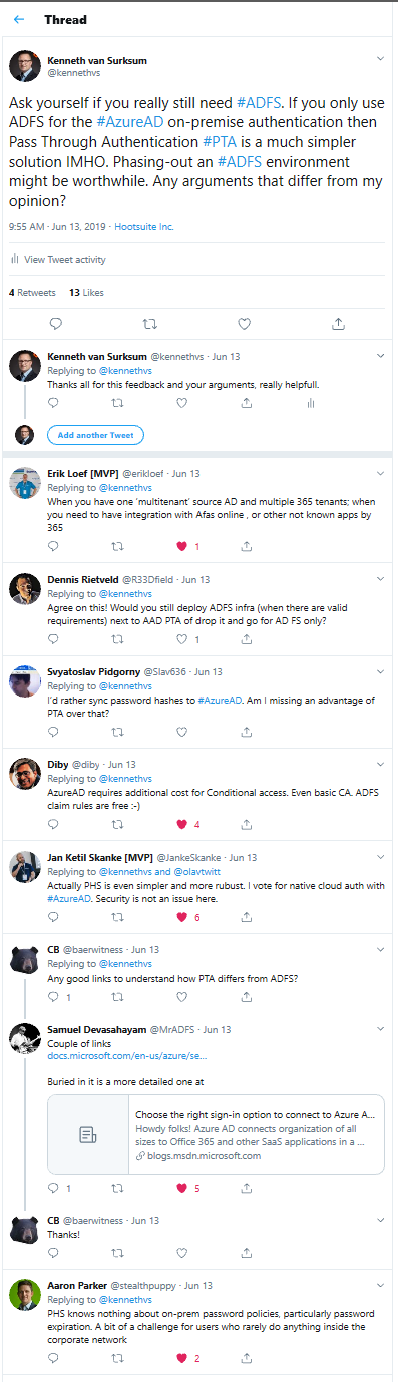To keep using ADFS or not to keep using ADFS, that is the question